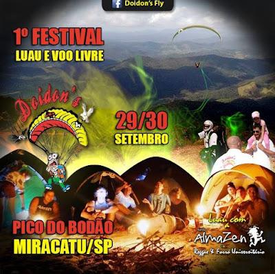 1º Festival Luau e Voo Livre cancelado devido ás chuvas