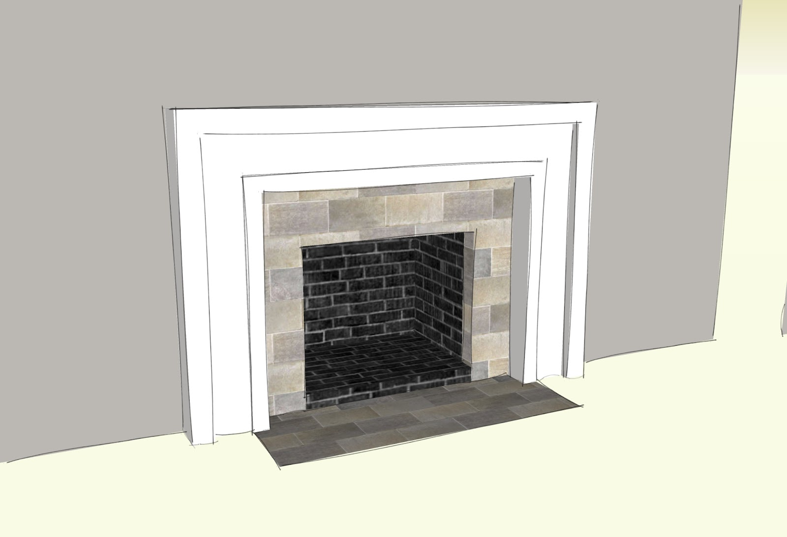 Swingncocoa fireplace makeover part 1 a crispy facade - Tiling a brick fireplace ...