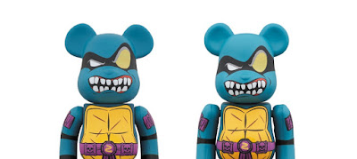 Teenage Mutant Ninja Turtles Slash Be@rbrick Vinyl Figures by Medicom Toy