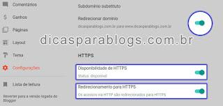 configurar https no blog