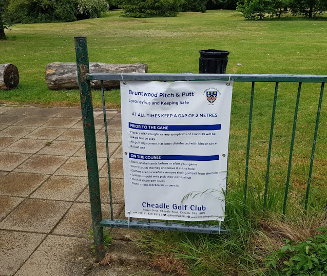 Social distancing miniature golf at Bruntwood Park Pitch & Putt in Cheadle