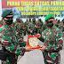 Pujian Danrem 173/ PVB dalam rangka Pelepasan Purna Tugas Yonif Raider 500/Sikatan di Tanah Papua