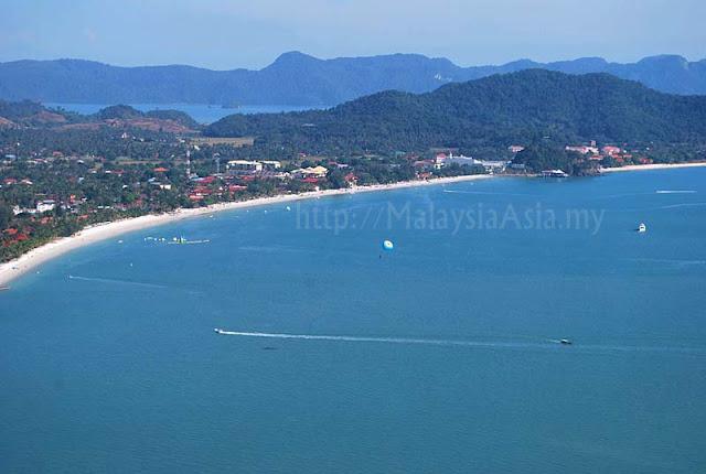 Aerial View Pantai Cenang Langkawi