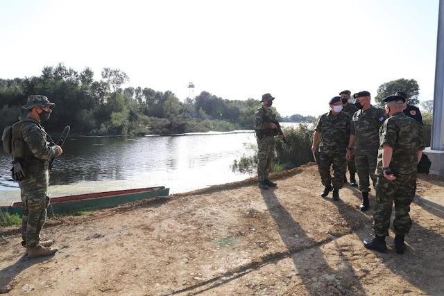 Στον Έβρο ο Αρχηγός ΓΕΕΘΑ-Έλεγχος ετοιμότητας Στρατού Ξηράς στα σύνορα (ΦΩΤΟ)
