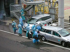 Quarantine Inspection Crew at Kansai Airport.