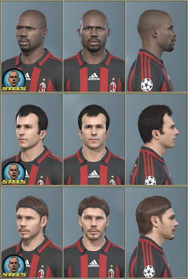 PES 2019 Facepack AC Milan Legends ( Boban, Savićević, Weah ) by Stels