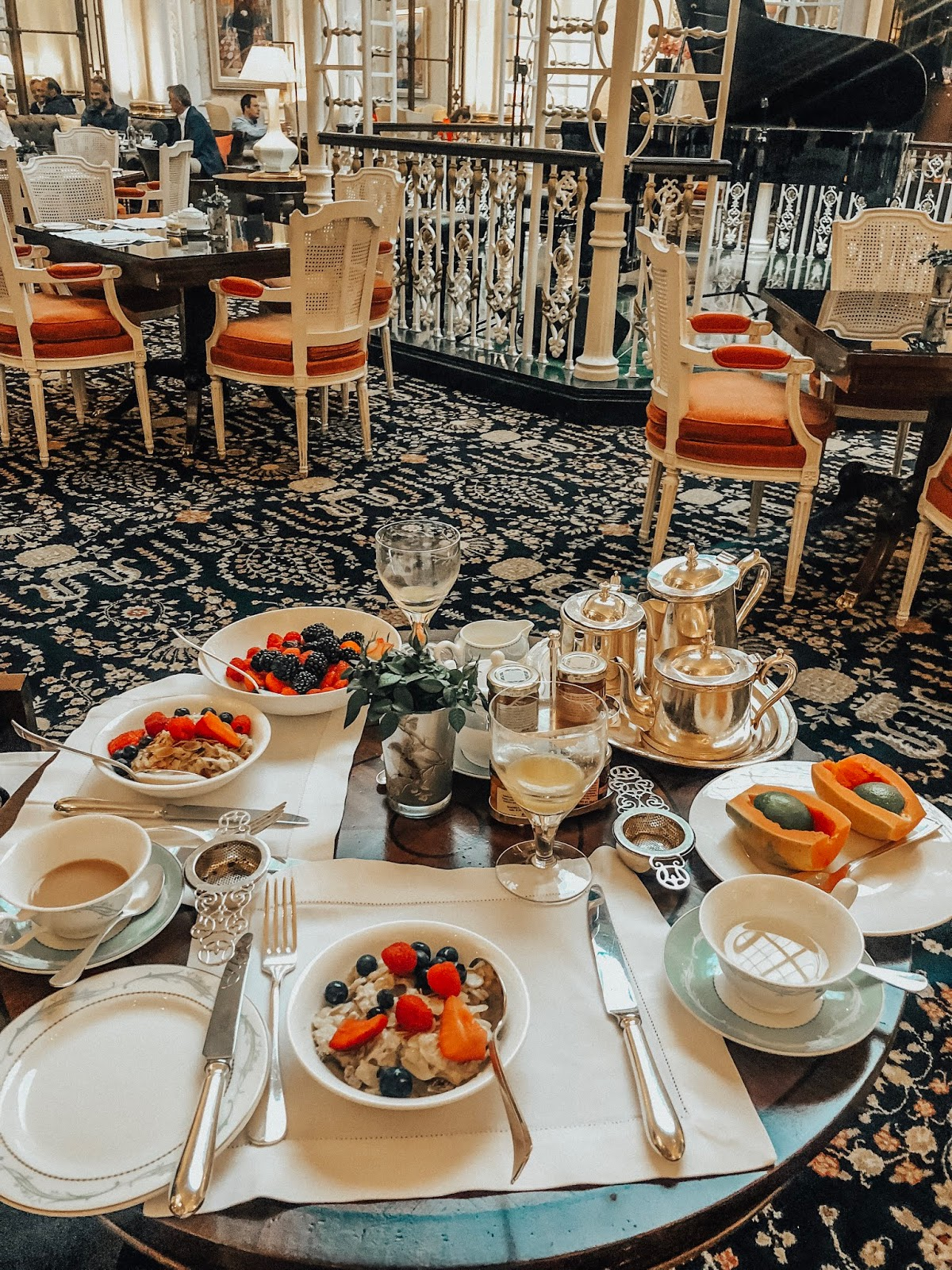 Breakfast at The Savoy in the Thames Foyer