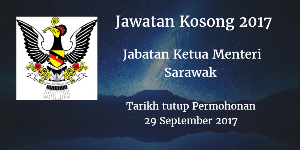 Jabatan Ketua Menteri Sarawak 29 September 2017
