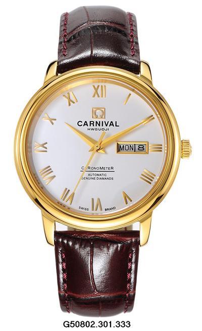 Đồng hồ dây da carnival