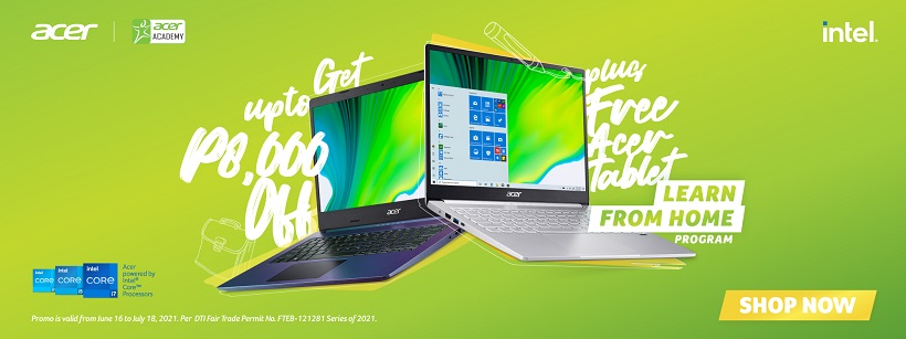 Acer intros Learn from Home program, offers up to ₱8,000 OFF laptops and more