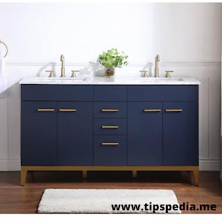 dark blue bathroom cabinets