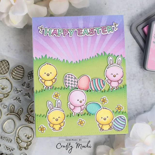 Sunny Studio Stamps: Chickie Baby Chubby Bunny Customer Card by Gladys