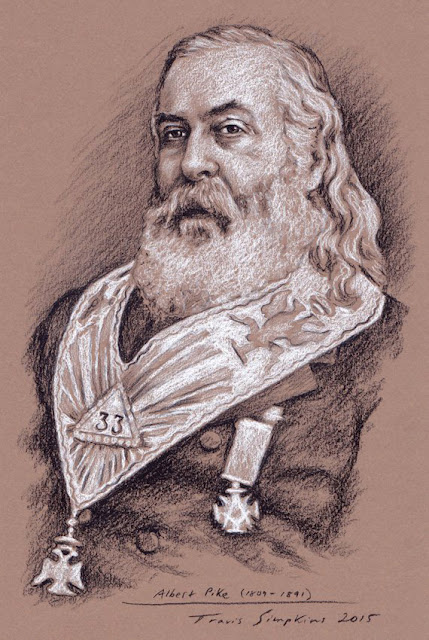 Albert Pike, 33°. Past Sovereign Grand Commander. Scottish Rite, SJ. Morals and Dogma. by Travis Simpkins