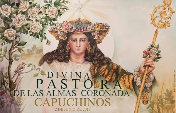 Cartel anunciador de la procesión de la Divina Pastora de Capuchinos 2019 de Sevilla