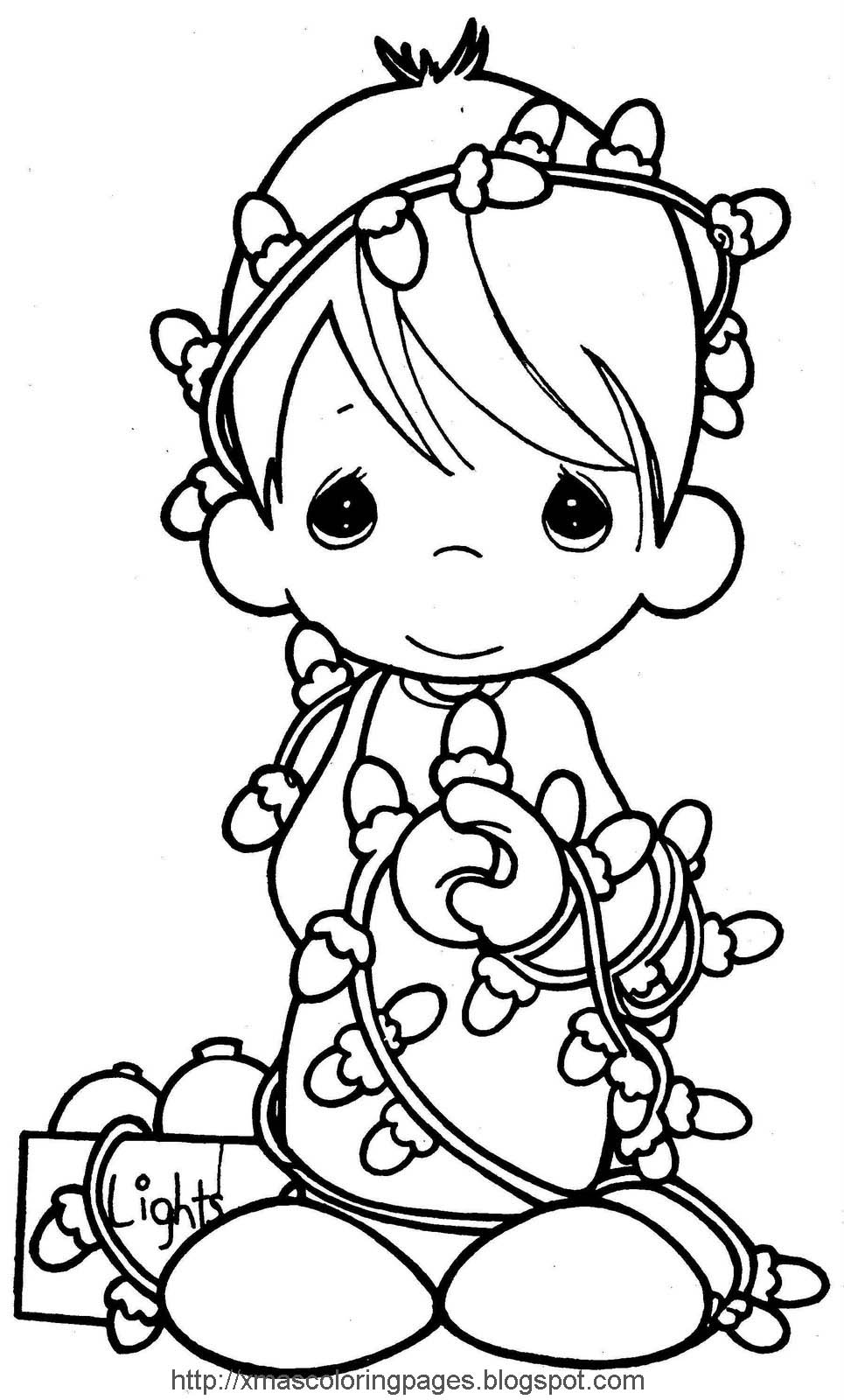 free christmas coloring pages for kids | XMAS COLORING PAGES