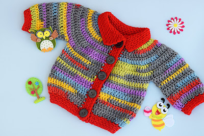 1 - Crochet Imagen Chaqueta a crochet para niño niña muy fácil y rápido por Majovel Crochet