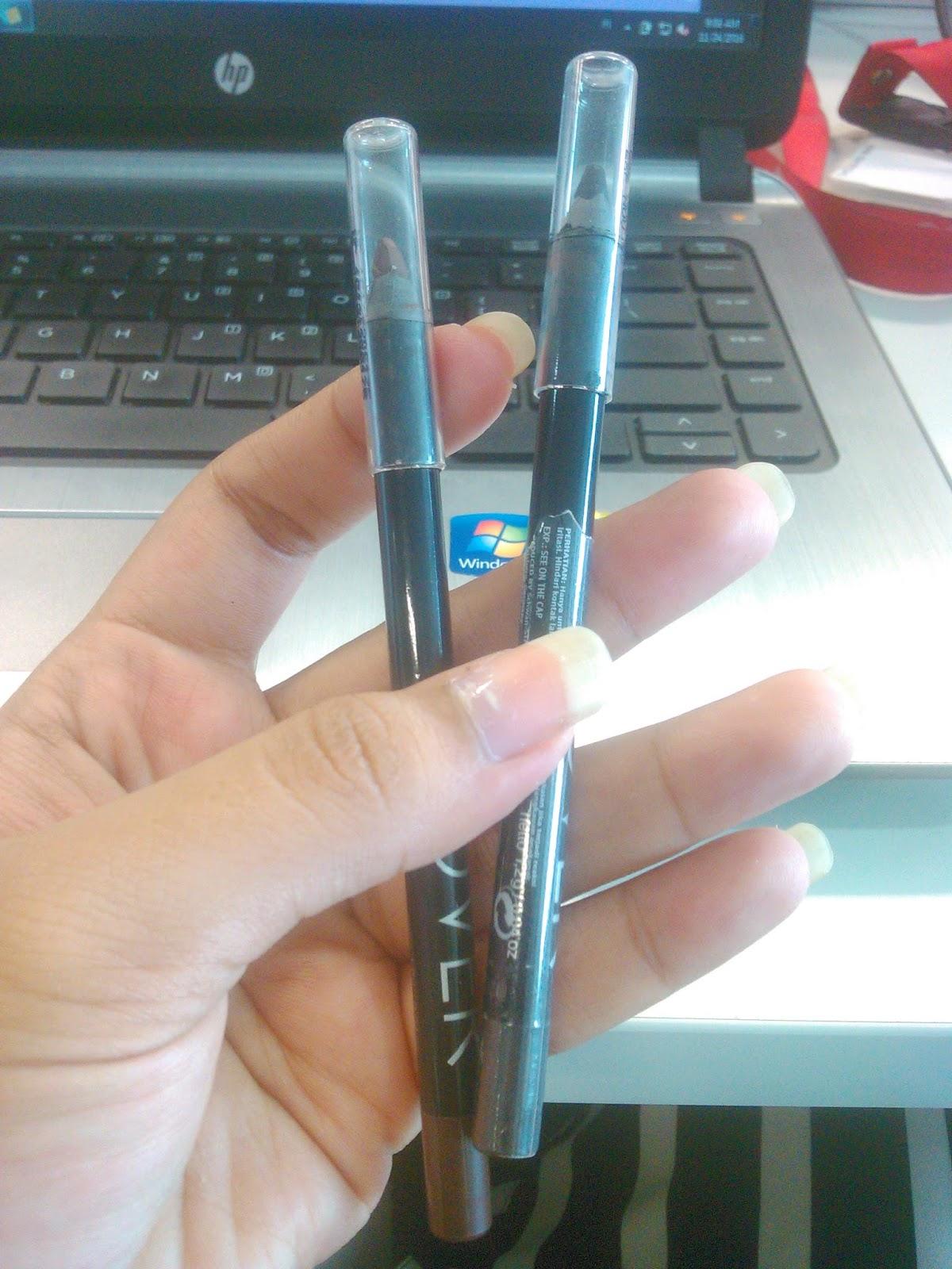 Review Make Over Eyeliner Pencil Black Jack & Brown Latte