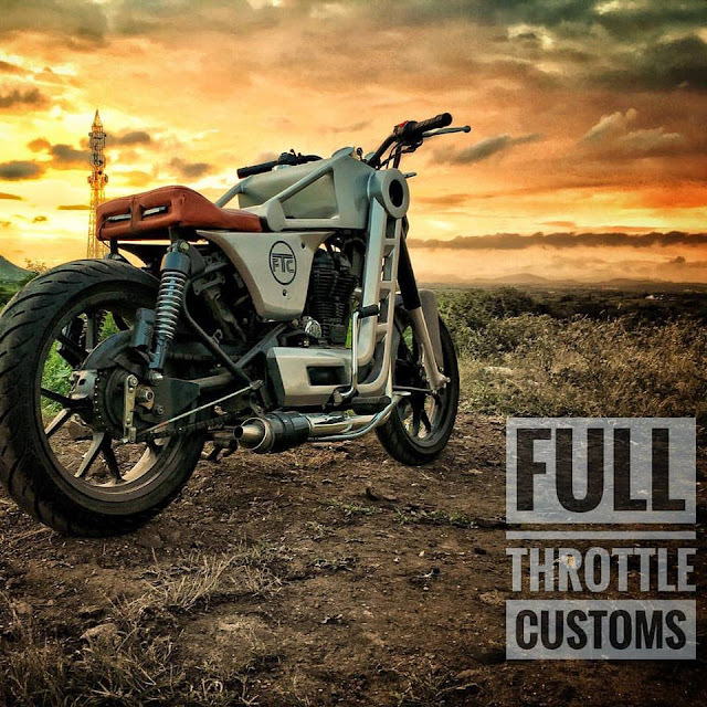 Full Throttle Customs Royal Enfield classic 500 modified