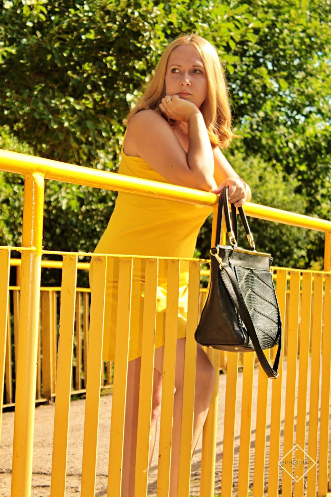 torebka shopper, sukienka bonprix
