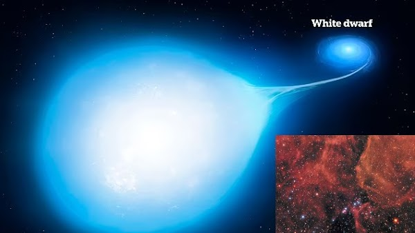 Scientists discover two stars spiralling towards each other 1,500 light years away from Earth