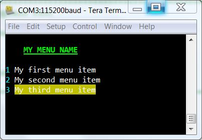 Electronics Blog: Cypress PSoC VT100 Code Example
