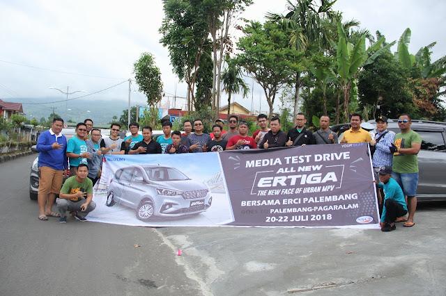 All New Ertiga Tampak Lebih Garang Bersama Media Test Drive Palembang- Pagar Alam