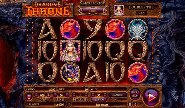 Main Gratis Slot Indonesia - Dragon's Throne Habanero