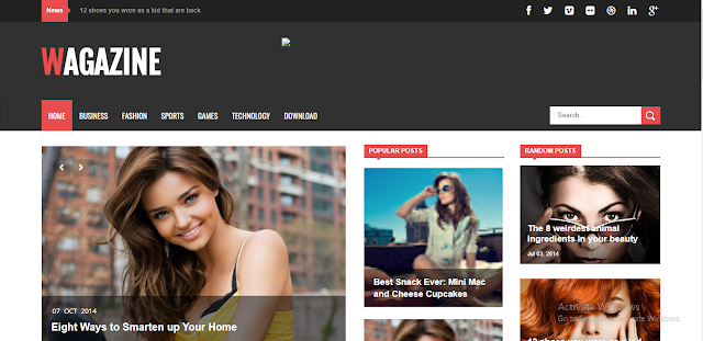 Wagazine Blogger Template