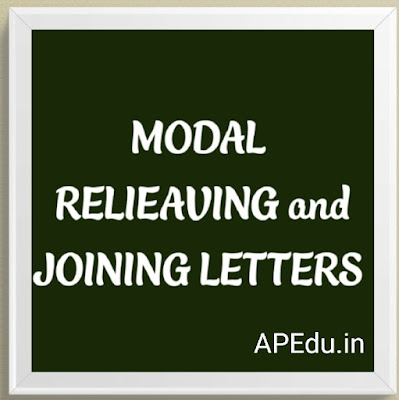 MODAL RELIEVING AND JOINING LETTERS