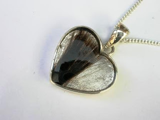 Sterling silver heart pendant for a lock of hair
