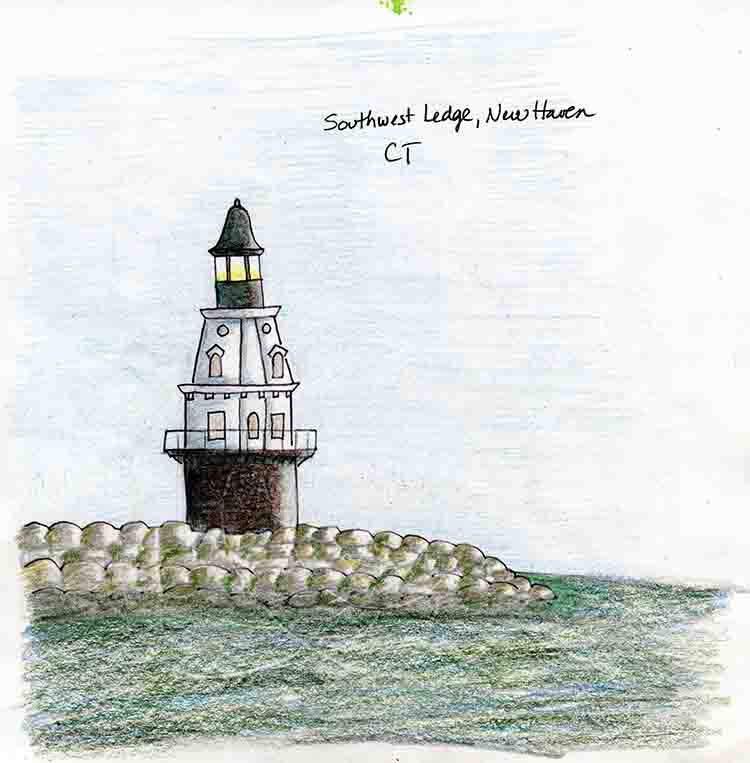 Sw Lighthouses Ledge New Haven