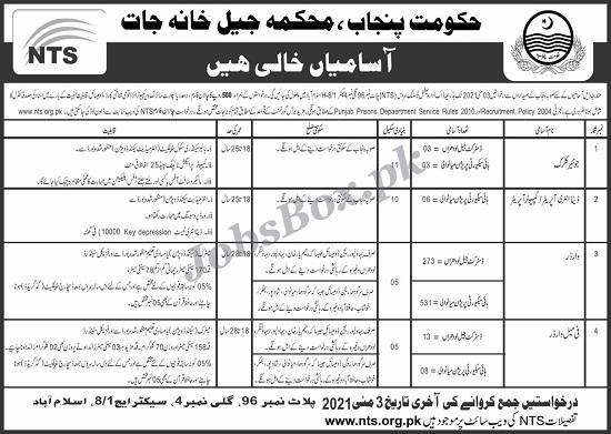 punjab-prison-department-jobs-2021-download-application-form-via-nts