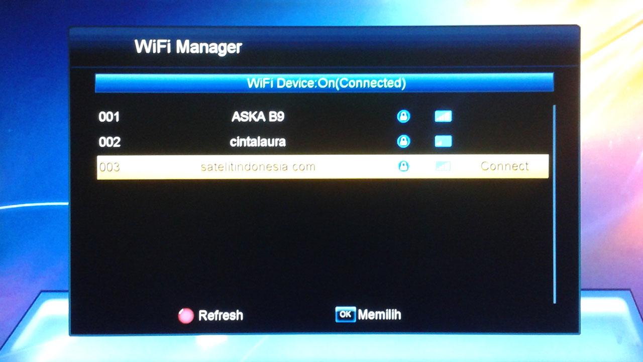 Cara Setting Wifi Receiver Parabola Skybox A1 AVS+