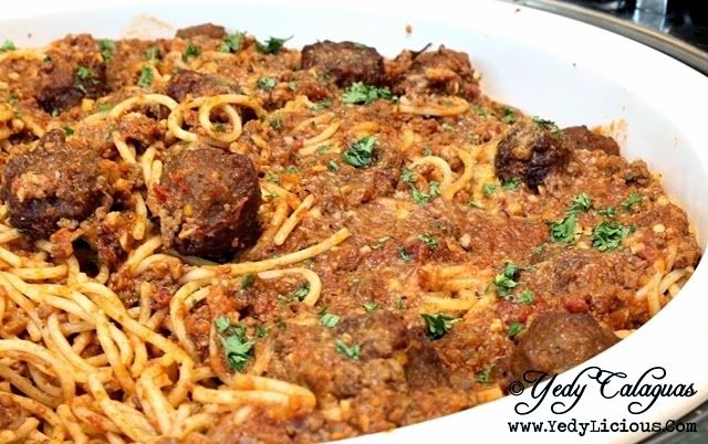 Meatball Spaghetti United Taste of America at F1 Hotel Manila