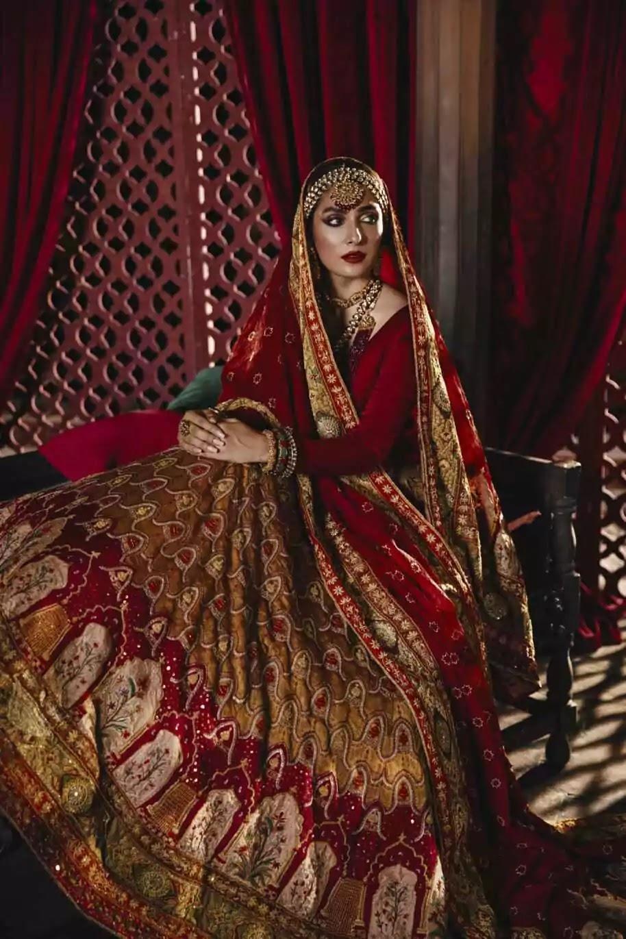 Ayeza Khan New Latest Clicks in Bridal Collection of Lajwanti's Studio