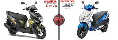 Yamaha Cygnus Ray ZR VS Honda Dio