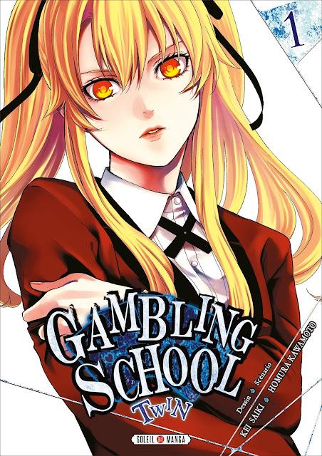 Gambling School Twin Manga L'Agenda Mensuel - Juillet-Août 2018