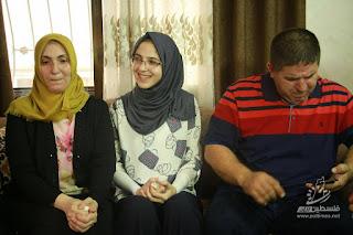 شاهد بالصوركيف احتفلت الطالبة الأولى على فلسطين آلاء احمد محمد عبد العاطي