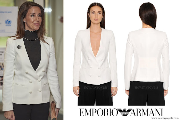 Princess Marie wore Emporio Armani Stretch Viscose Tricotine Jacket