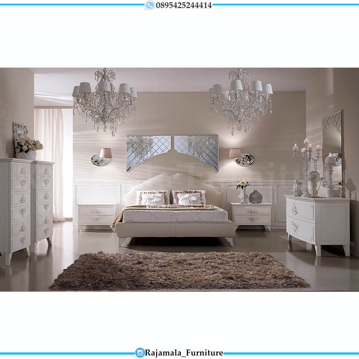 Kamar Set Minimalis Terbaru Luxury Classic Design Jepara RM-0222