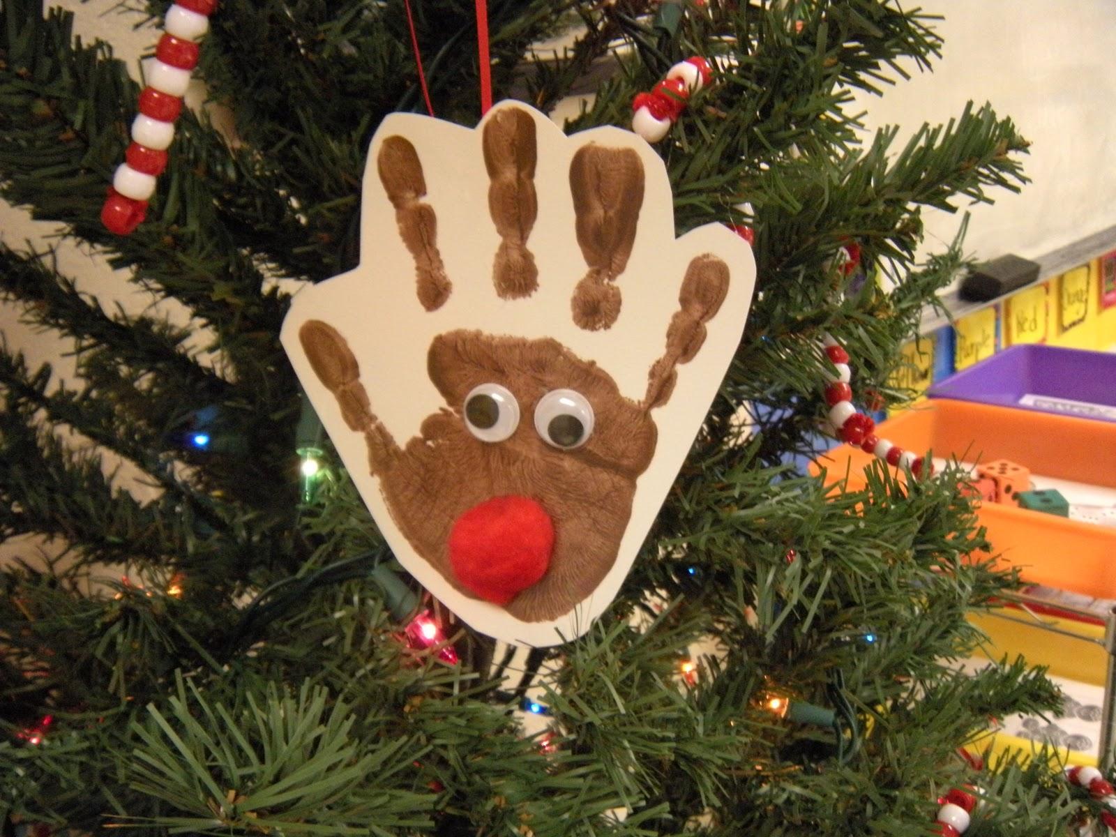 The Adventures of Miss Elisabeth: December 2011  Reindeer Handprint Ornament