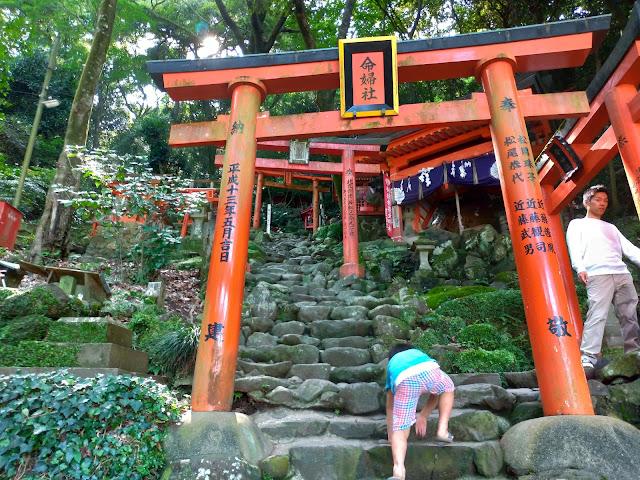 佐賀・祐徳稲荷神社の参拝で奥の院へきつい
