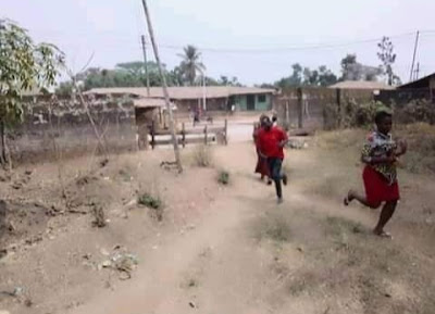 Women, Children On The Run As 2 Communities Clash In Ebonyi (Photos)