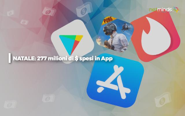 Natale: 277 milioni dollari in App