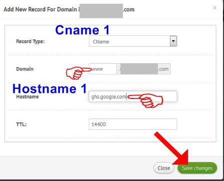 Cara Memasukkan Cname 1 dan Hostname 1
