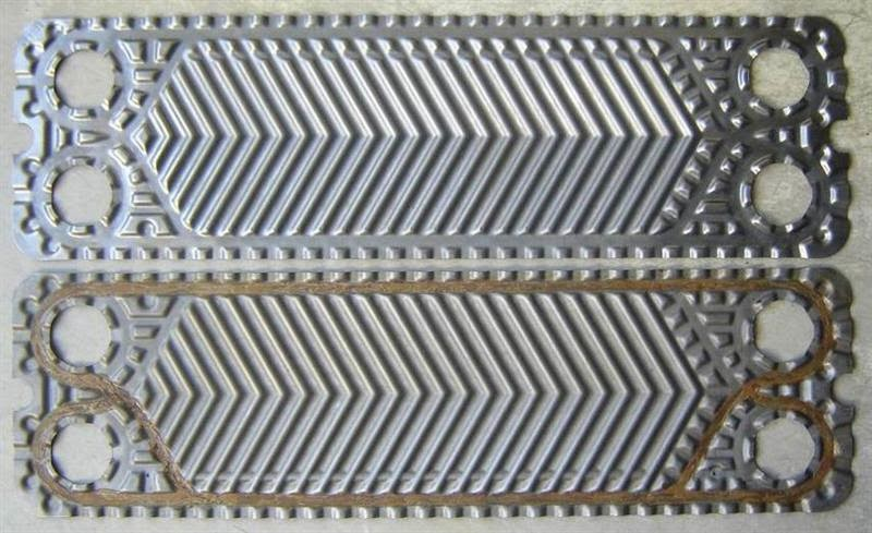 Titanium plates for heat exchanger, used reconditioned plates for heat exchangers