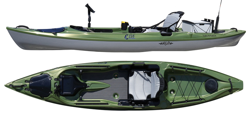 Canoesport news product review eddyline c130 fishing kayak for Wide fishing kayak