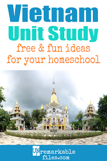 This Vietnam unit study is packed with activities, crafts, book lists, and recipes for kids of all ages! Make learning about Vietnam in your homeschool even more fun with these free ideas and resources. #vietnam #homeschool #educational