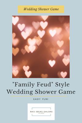 Easy Family Feud Wedding Shower Game