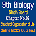 9th Biology Unit 2 Structural Organization of Life MCQs Sindh Board